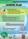 """Kajian Islam Kontemporer : """"Ekonomi Islam Prinsip Dasar Meraih Ridho Allah dan Kesejahteraan Sosial"""" oleh Ustadz Dr. Erwandi Tarmizi, M.A. (Bandung, 18 November2012)"""